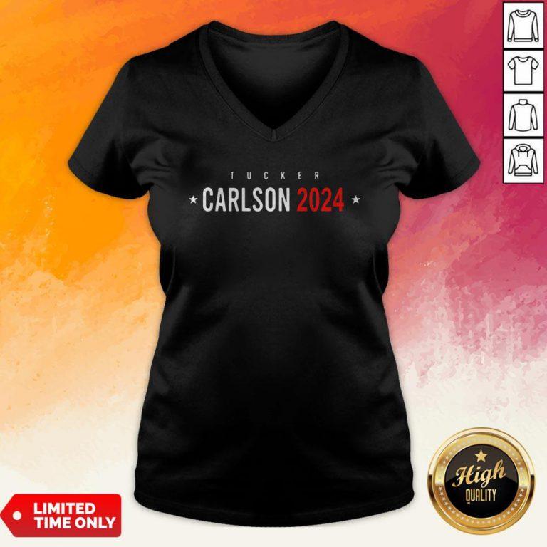 Official Tucker Carlson 2024 V-neck