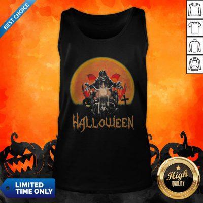 Original Skeleton Biker Halloween Tank Top
