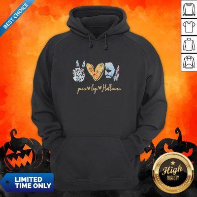 Peace Love Halloween Michael Myers Hoodie