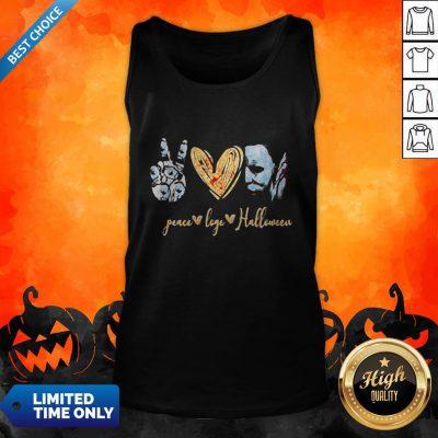 Peace Love Halloween Michael Myers Tank Top
