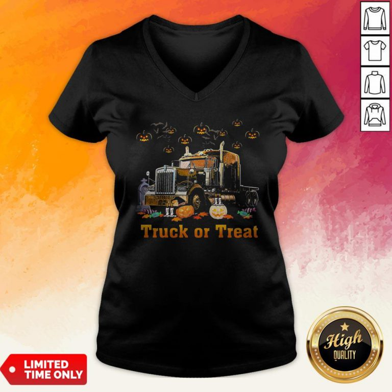 Perfect Truck Of Treat Halloween V-neck