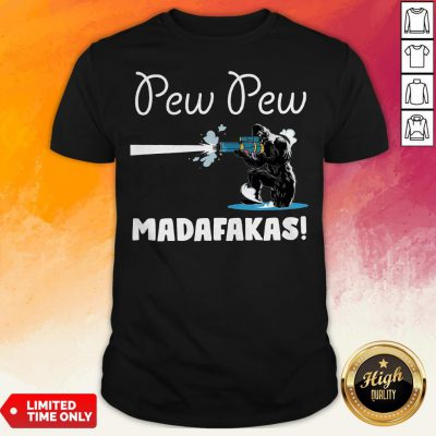 Pretty Bigfoot Pew Pew Madafakas Shirt