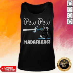 Pretty Bigfoot Pew Pew Madafakas Tank Top