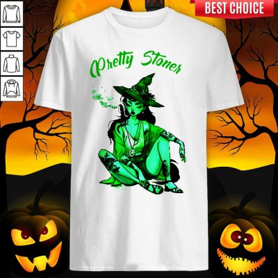 Pretty Stoner Witch Weed Halloween Shirt