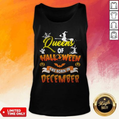 Queen Of Halloween Are Born In December Tank Top