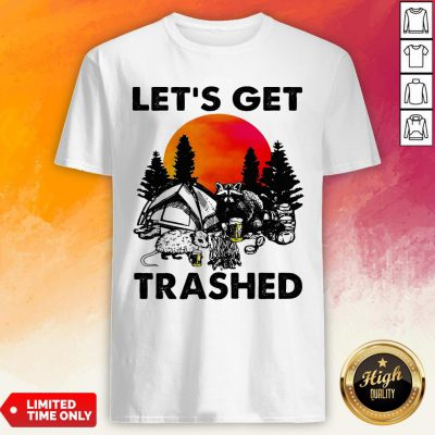 Raccoon Let'S Get Trashed Sunset Shirt