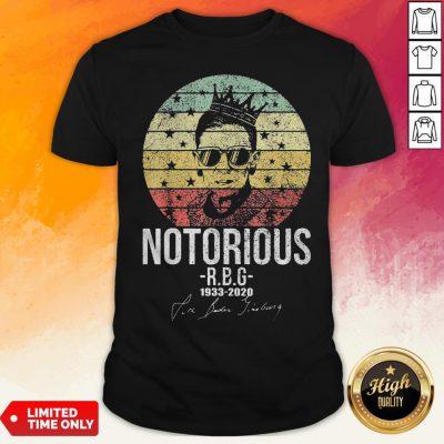 Ruth Bader Ginsburg Notorious 1933-2020 Vintage Retro Shirt