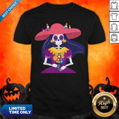 Skeleton Women Happy Day Of Dead Dia De Muertos Shirt