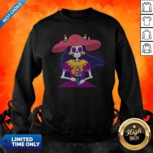 Skeleton Women Happy Day Of Dead Dia De Muertos Sweatshirt
