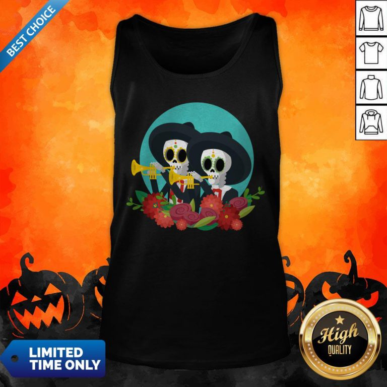 Skeletons Happy Day Of Dead Muertos Tank Top
