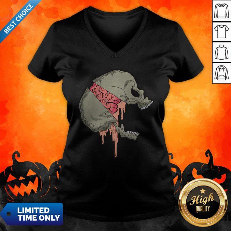 Skull Halloween Day Of The Dead Muertos V-neck