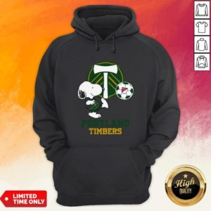 Snoopy Playing Soccer Portland Timbers Hoodie