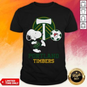 Snoopy Playing Soccer Portland Timbers Shirt