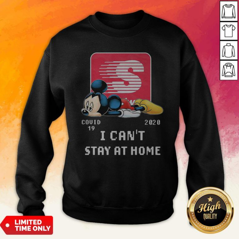 Speedway Mickey Mouse Covid 19 2020 I Can'T Stay At Home Sweatshirt