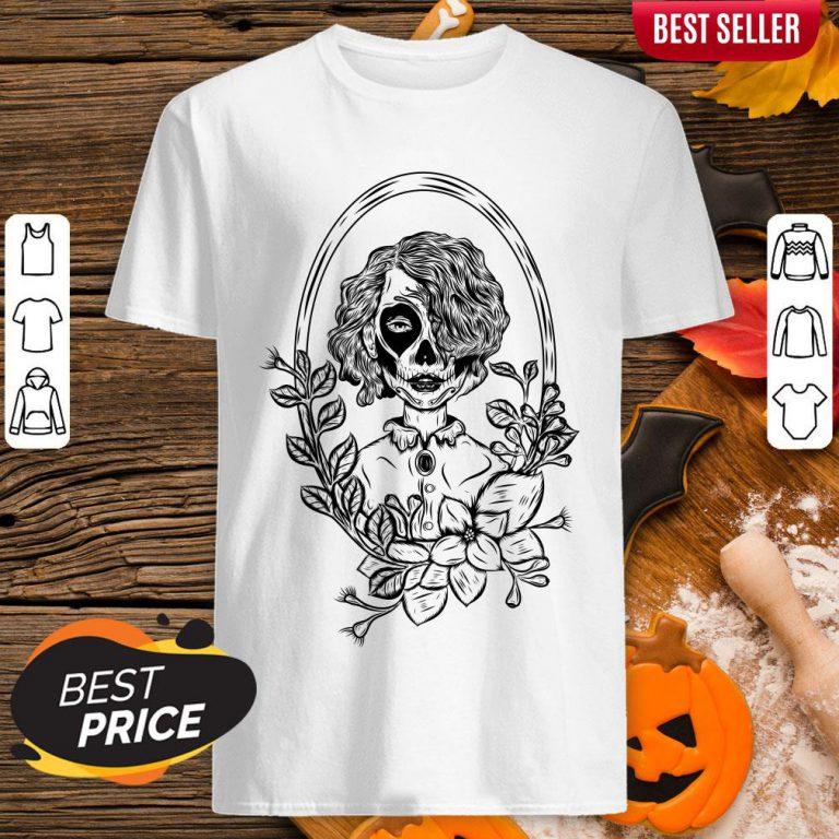 Sugar Skull Black Girl Day Of Dead Shirt