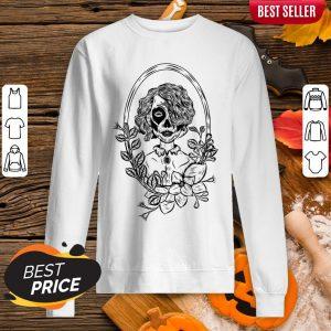 Sugar Skull Black Girl Day Of Dead Sweatshirt