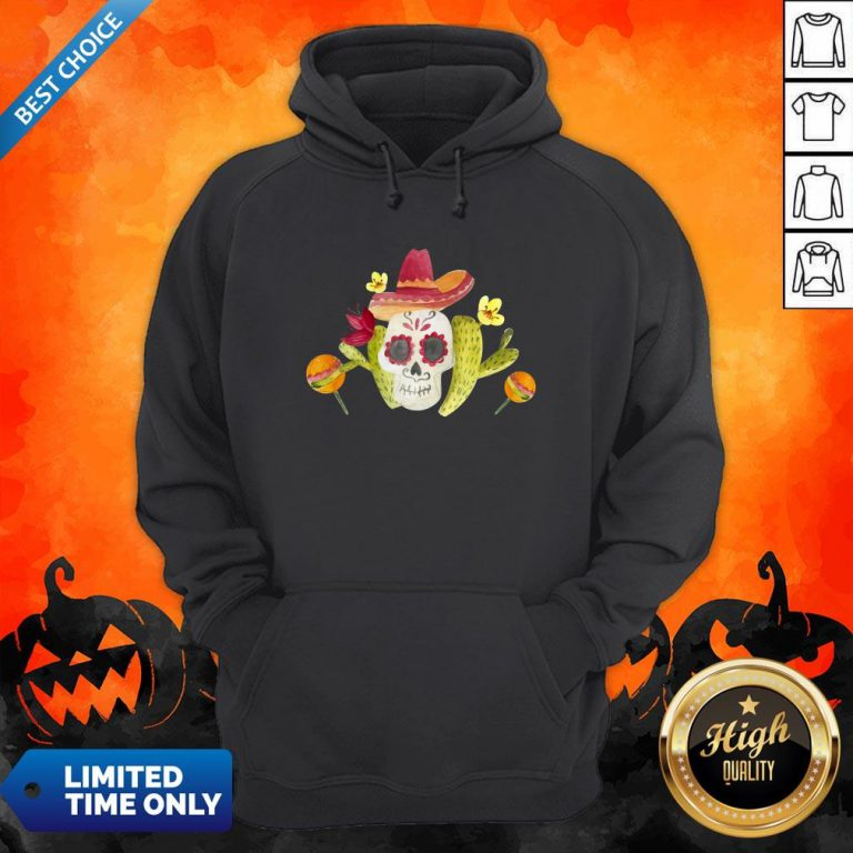 Sugar Skull Day Of The Dead In Mexican Hoodie