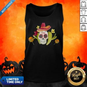 Sugar Skull Day Of The Dead In Mexican Tank Top