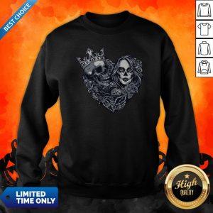 Sugar Skull Girl Dice Chicano Tattoo Vintage Sweatshirt