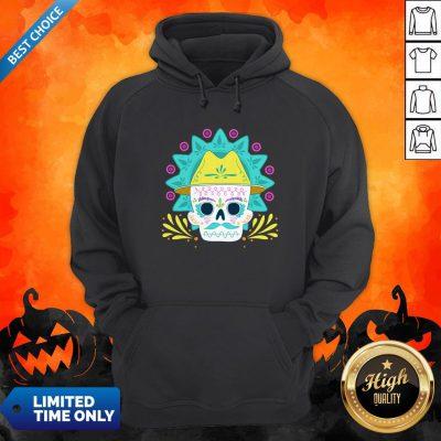 Sugar Skull Happy Day Dead Dia De Los Muertos Hoodie