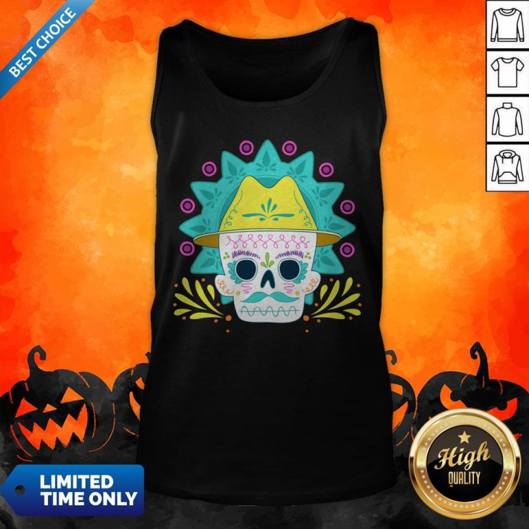 Sugar Skull Happy Day Dead Dia De Los Muertos Tank Top