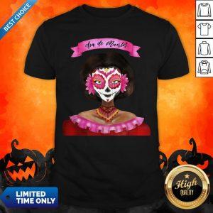 Sugar Skull Pink Girl Day Of Dead Dia De Muertos Shirt