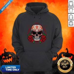 Sugar Skull With Rose Day Of The Dead Hoodie
