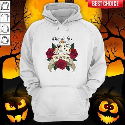 Sugar Skull With Roses Ribbon Dia De Los Muertos Hoodie