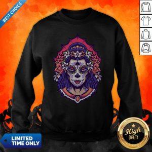 Sugar Skull Woman Day Of The Dead Dia De Muertos Sweatshirt