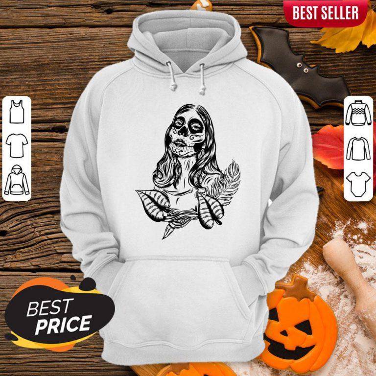 Sugar Skull Woman Day Of The Dead Muertos Hoodie