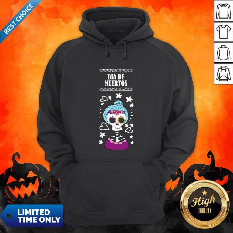 Sugar Skull Women Day Of The Dead Dia De Muertos Hoodie