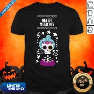 Sugar Skull Women Day Of The Dead Dia De Muertos Shirt