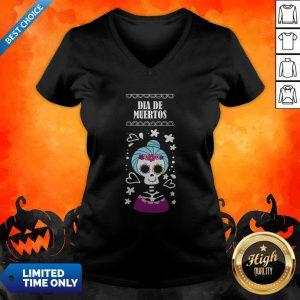 Sugar Skull Women Day Of The Dead Dia De Muertos V-neck