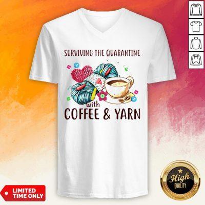 Surviving The Quarantine With Coffee Yarn V-neck