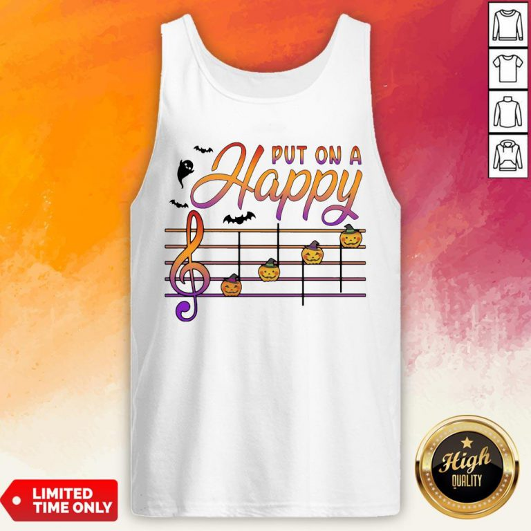 Teacher Music Put On A Happy Halloween Tank Top