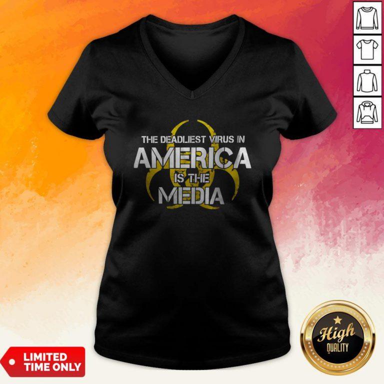 The Deadliest Virus In America Is The Media V-neck