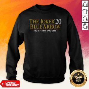 The Joker20 Blue Arrow Built Not Bought Sweatshirt