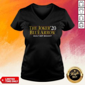The Joker20 Blue Arrow Built Not Bought V-neck