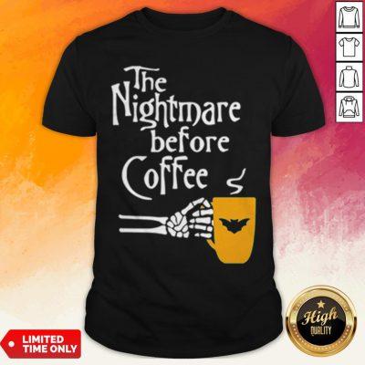 The Nightmare Before Coffee Skeleton Hand Shirt