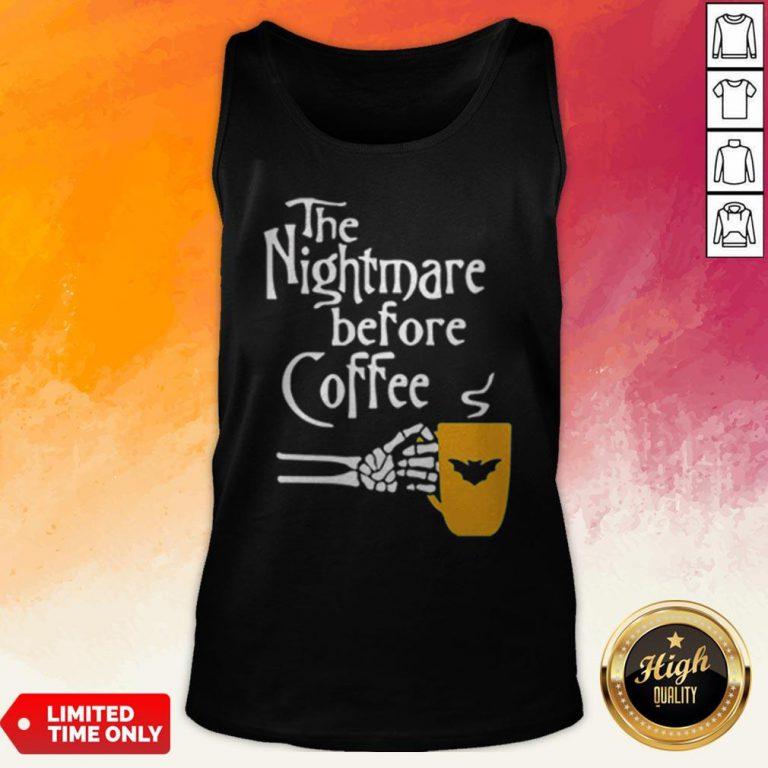 The Nightmare Before Coffee Skeleton Hand Tank Top