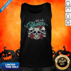 Three Sugar Skull Day Of The Dead Dia De Los Muertos Colorful Tank Top