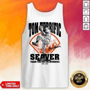 Tom Terrific Seaver Thank You For The Memories 1944-2020 Signature Tank Top