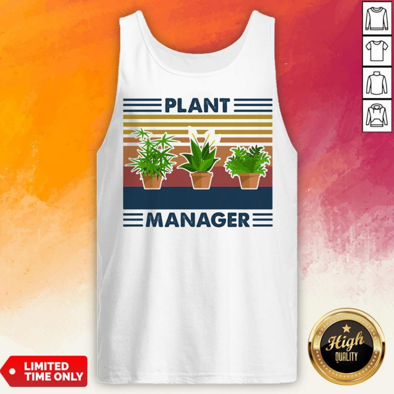 Top Plant Manager Vintage Retro Tank Top