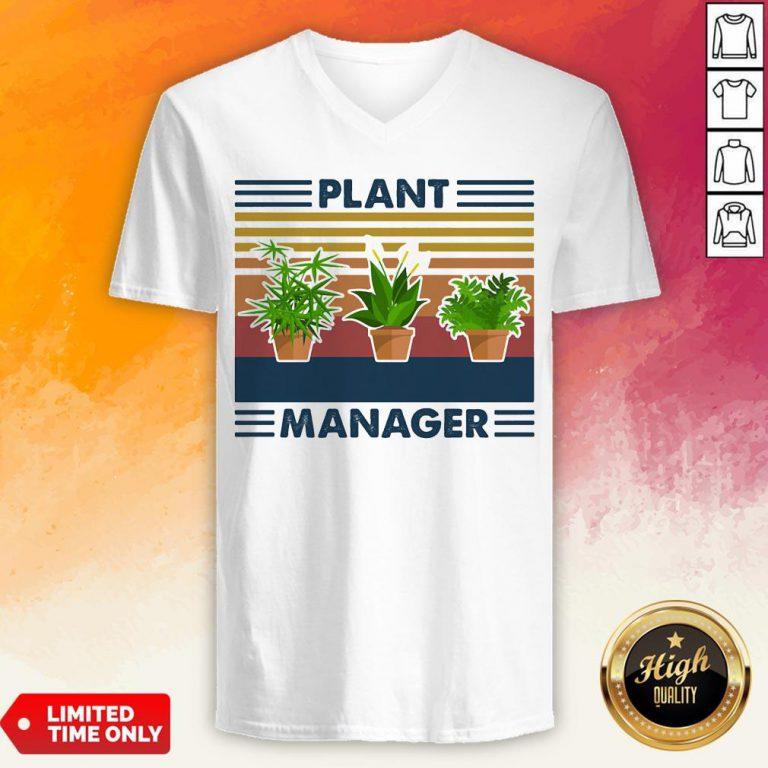 Top Plant Manager Vintage Retro V-neck