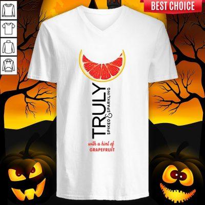 Truly Hard Seltzer Grapefruit Halloween V-neck