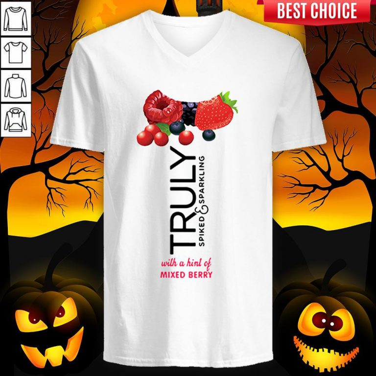 Truly Hard Seltzer Mixed Berry Halloween Costume V-neck