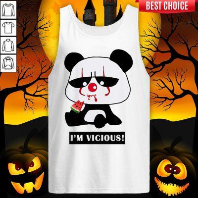 Vicious Baby Panda The Cutest Halloween Tank Top