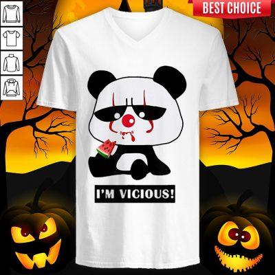 Vicious Baby Panda The Cutest Halloween V-neck