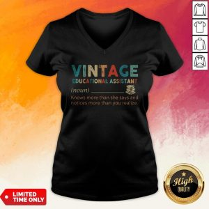 Vintage Educational Assistant Knows More Than He Says And Notices More Than You Realize V-neck