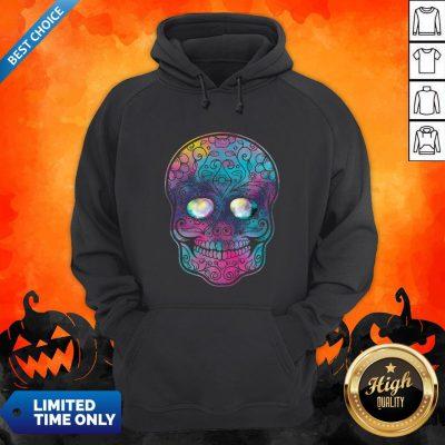 Watercolor Sugar Skull Day Of The Dead Hoodie
